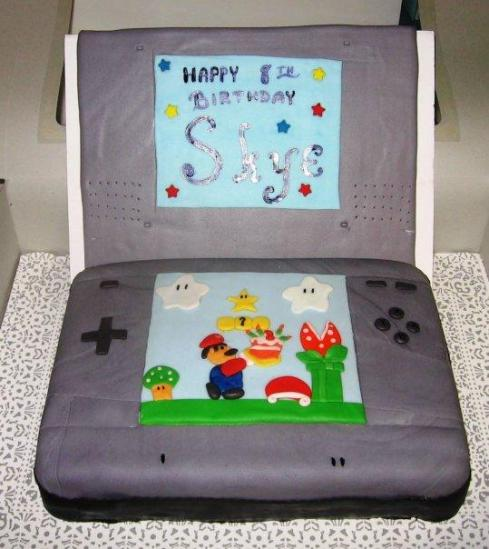 My First Attempt at Making  Nintendo DS Cake- Completely Covered & Decorating in Fondant